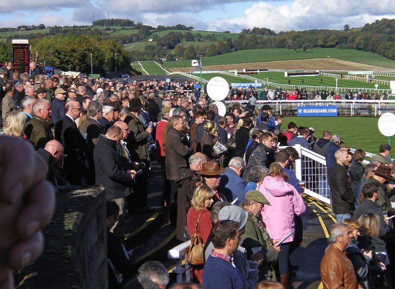 Crowds at Chepstow Racecourse