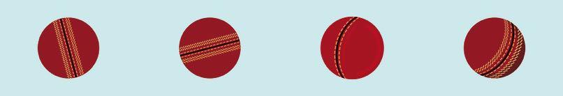 Cricket ball graphic