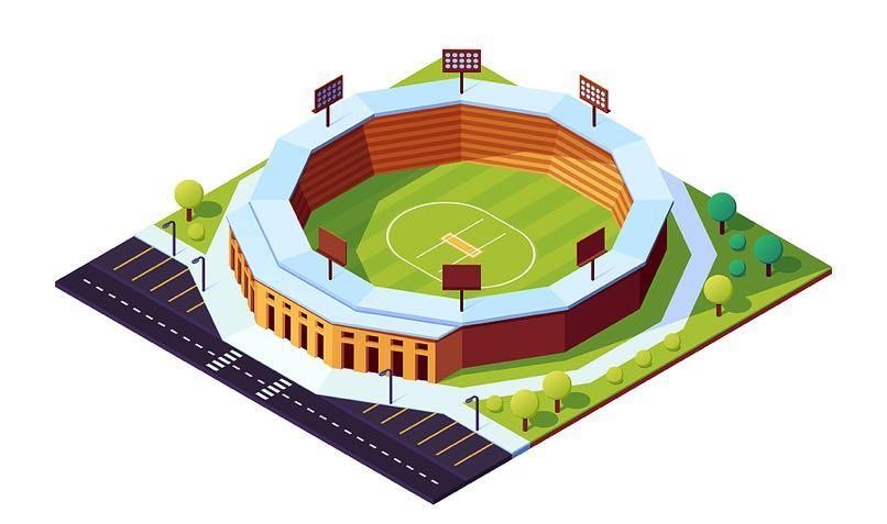 Cricket stadium graphic