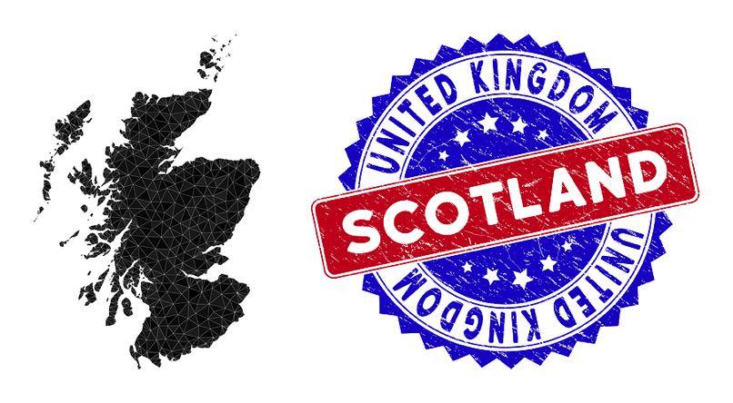 Scotland map & badge