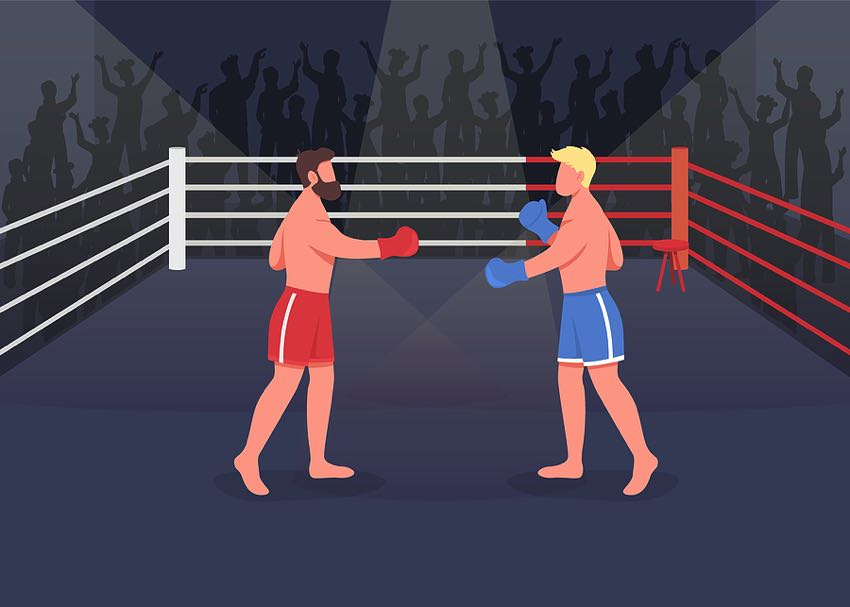 Boxing match graphic
