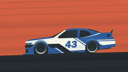 Race car graphic