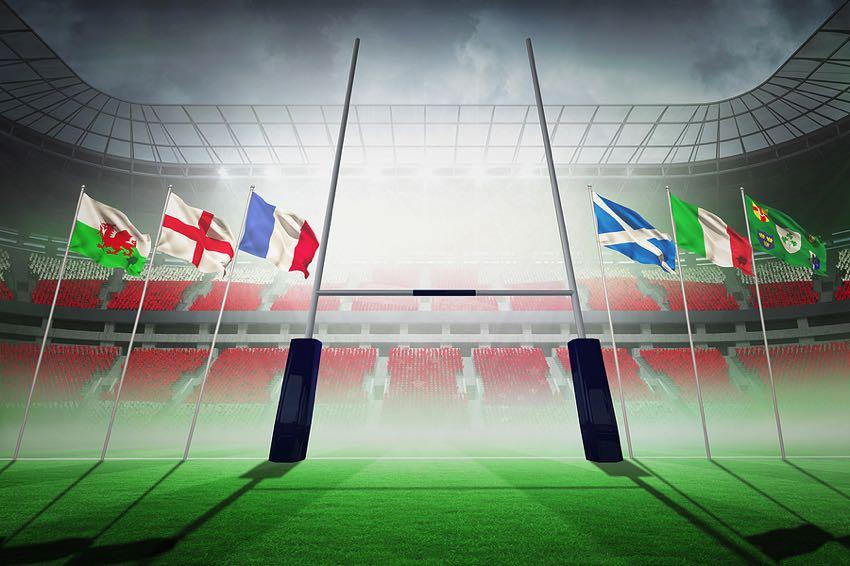 Rugby stadium graphic