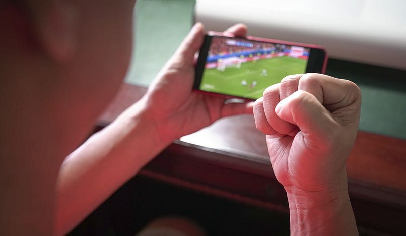Watching sports on phone